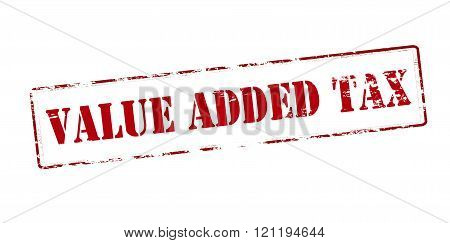 Rubber stamp with text value added tax inside vector illustration