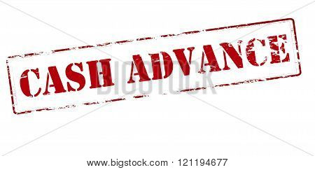 Rubber stamp with text cash advance inside vector illustration