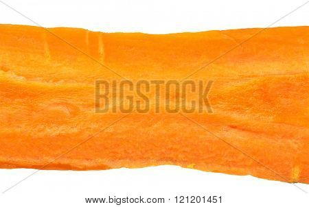 Extreme macro image of carrot. Isolated with path on white background.