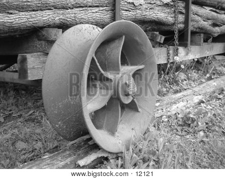 Log Cart Wheel