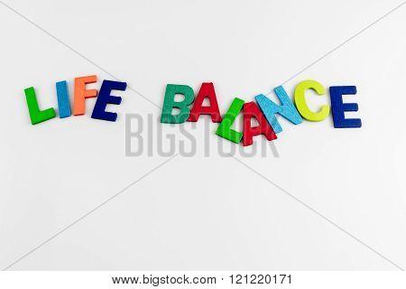Life Balance Word On White Background