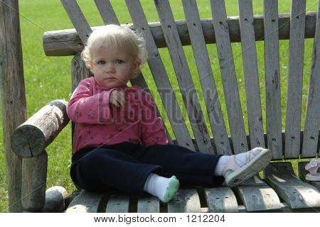 Bruised Baby On Bench...
