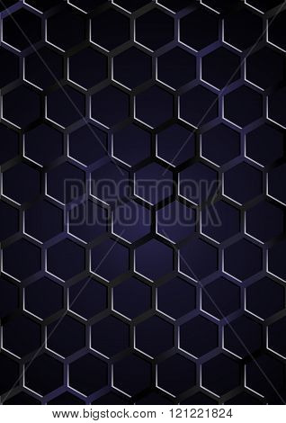 Vector illustration. Abstract background - a lattice on a dark background