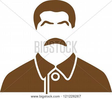 USSR - circa 1945:Vector portrait of Joseph Stalin. Soviet Union leader.