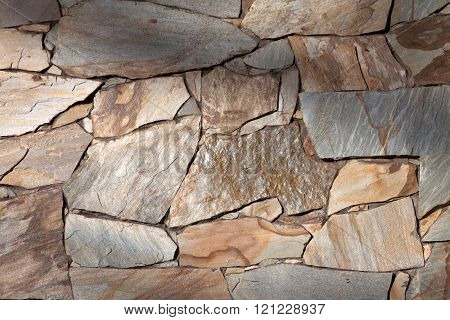 Stone Wall for background use clos up
