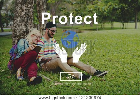 Protect Environmentally Friendly Preservation Concept