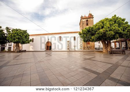 Central square on Los LLanos city