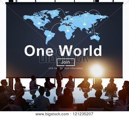 One World Society Globalization Earth Concept