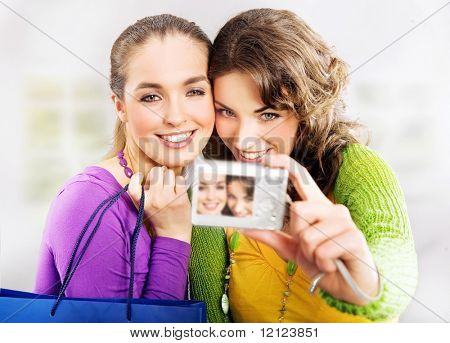Two cute girls and a camera