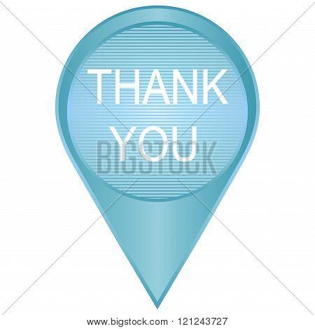Modern Design Thank You in blue vector concept