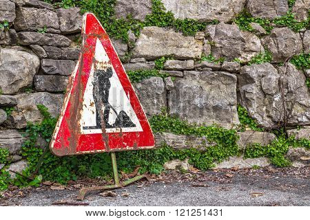 Work In Progress Road Sign