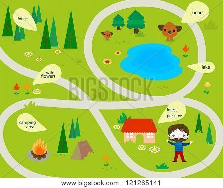 summer camping map