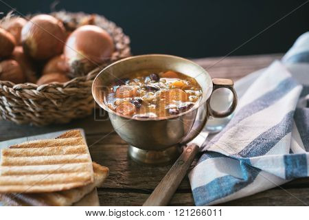 Red Kidney Bean Soup With Carrots And Barley
