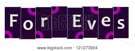 For Eves Purple Stripes Pink Rings
