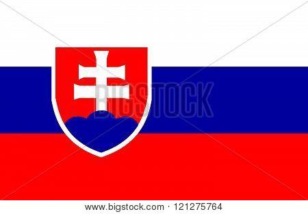 Slovakian Flag.