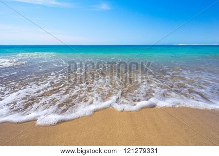 Stunning beach in the middle of summer