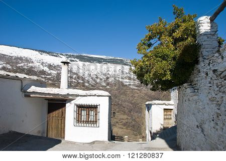 Villages of the Alpujarras , located in the province of Granada . Andalusia.