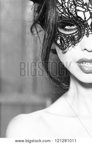Young Woman In Mask