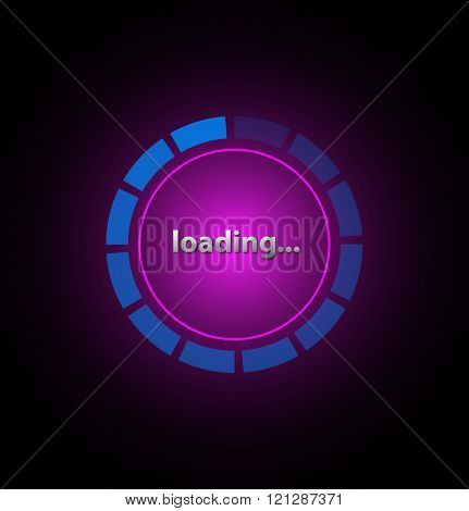 Loading icon Progress loading icons. Vector illustration