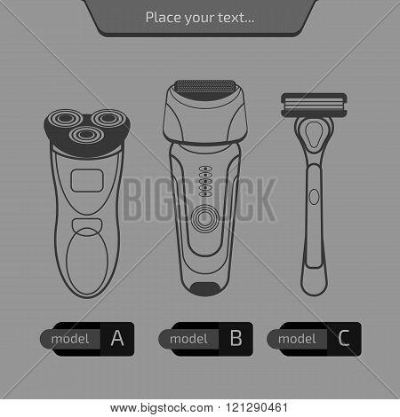 Vector shavers set