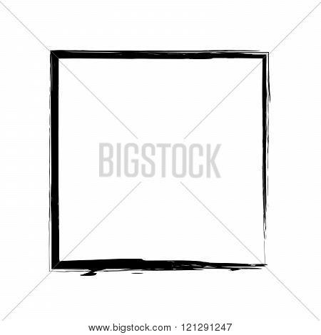 Frame square ink grunge background