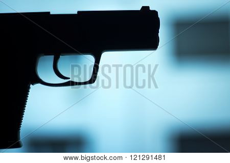 Automatic 9Mm Pistol Handgun Weapon