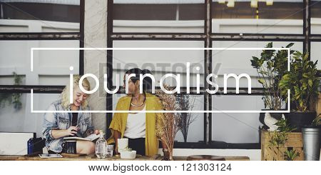 Journalism Article Report Research Publish Concept