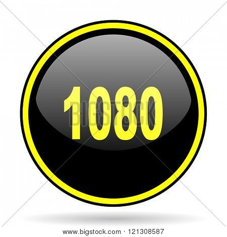 1080 black and yellow modern glossy web icon