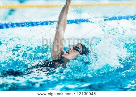 Back stroke swimmer