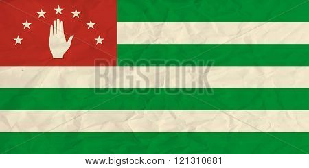 Abkhazia paper flag