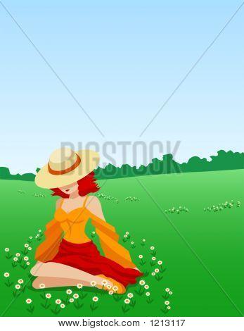 Girl Amongst Flowers
