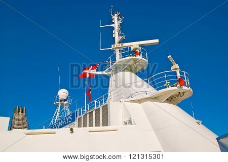 Oslo. Norway. Mast of the ferry