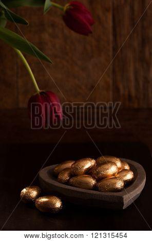 Luxury chocolate mini eggs