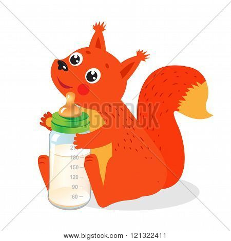 Cute Squirrel With Milk Bottle. Welcome Baby Vector Illustration. Cute Squirrel Picture. Cute Squirrel Meme. Cute Squirrel Drawings. Cute Squirrel Costume. Cute Squirrel Baby. Cute Squirrel Pet.
