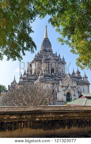 Stupas and pagodas of Bagan. Gaw Daw Palin temple.  Myanmar.