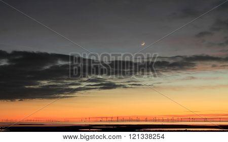Sunset over the Irish sea