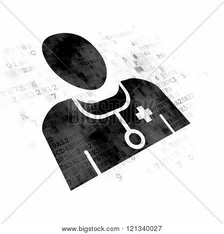 Medicine concept: Doctor on Digital background