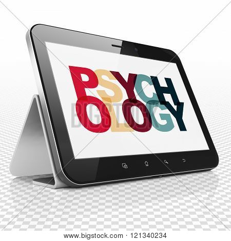 Healthcare concept: Tablet Computer with Psychology on  display