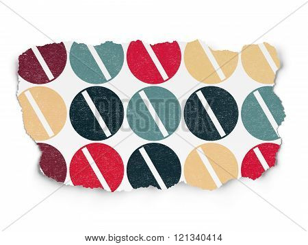 Healthcare concept: Pill icons on Torn Paper background