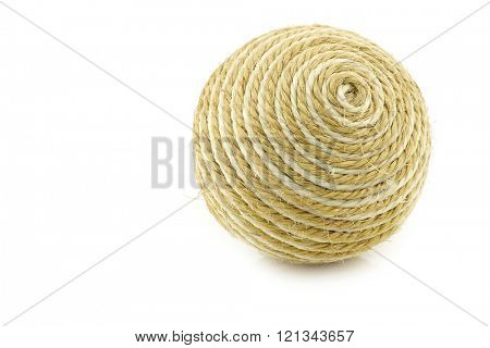 dog toy ball on a white background
