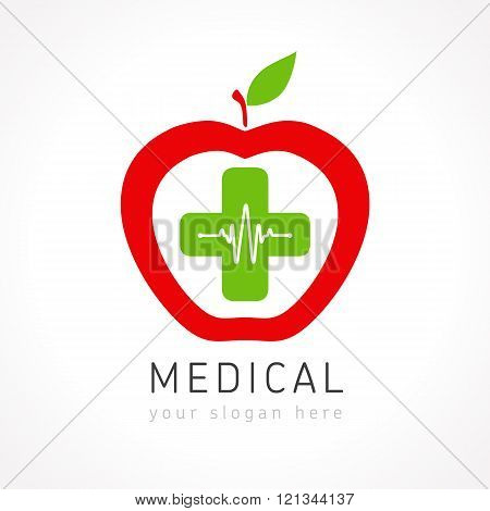 Medical apple plus company logo