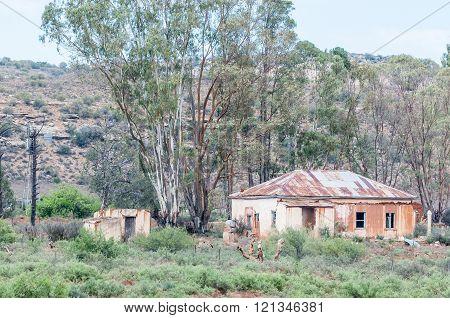 Ruin of an old farm house