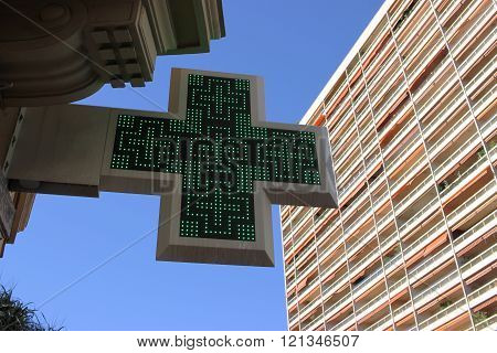 Green Cross Pharmacy Sign