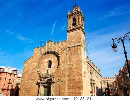 Valencia Santos Juanes historic Church in Spain