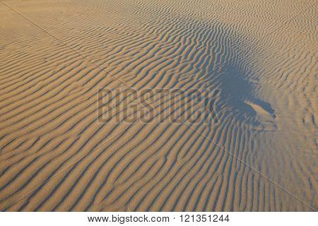 Sand waves texture in a Mediterranean beach at Spain