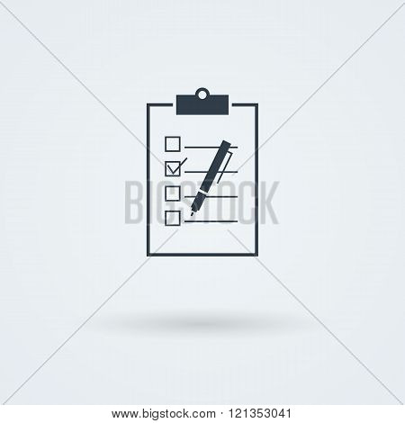 Paper board vector icon.