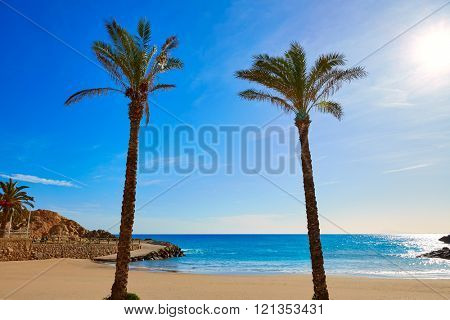 Cullera Platja del Far beach Playa del Faro in Valencia Spain
