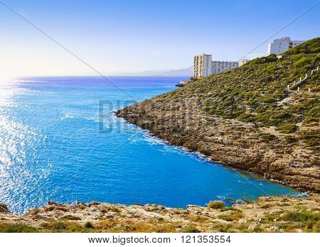 Cullera Mediterranean sea in Valencia of Spain