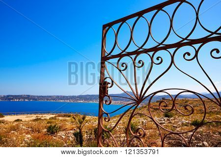 Javea Mediterranean fence in San Antonio Cape of Alicante Denia