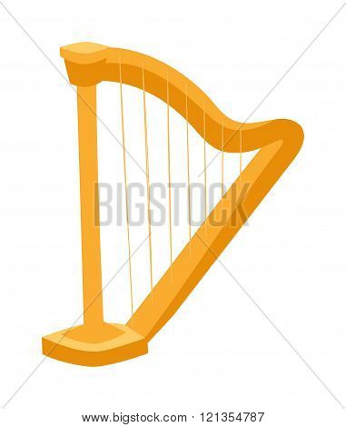 Harp vector illustration